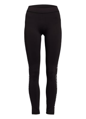 HUGO Leggings NEFLECTIVE mit Galonstreifen