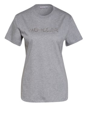 MONCLER T-Shirt mit Schmucksteinbesatz