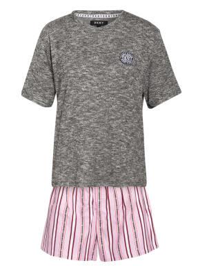 DKNY Shorty-Schlafanzug mit Schlafmaske