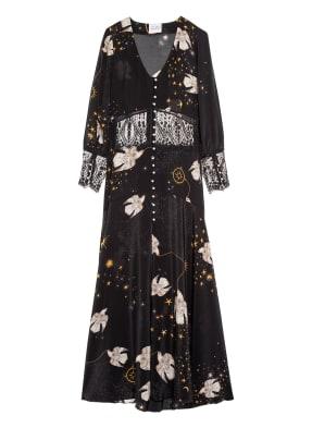 HAYLEY MENZIES Hemdblusenkleid mit Spitzen- und Perlenbesatz