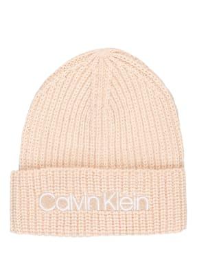 Calvin Klein Mütze mit Glitzergarnen