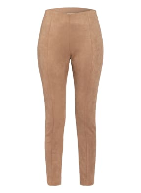 MALVIN Leggings in Veloursleder-Optik