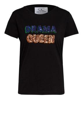 QUANTUM COURAGE T-Shirt DRAMA QUEEN mit Paillettenbesatz