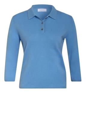 darling harbour Strick-Poloshirt mit 3/4-Arm aus Cashmere