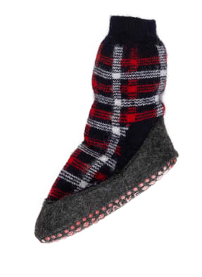FALKE Stoppersocken CHEQUED COZYSHOE