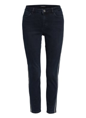 comma 7/8-Skinny Jeans mit Galonstreifen
