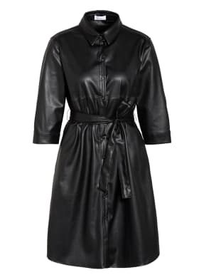 darling harbour Hemdblusenkleid in Leder-Optik mit 3/4-Arm