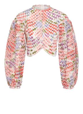 ZIMMERMANN Cropped-Shirt POPPY mit Lochspitze