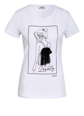LIU JO T-Shirt mit Tüllbesatz