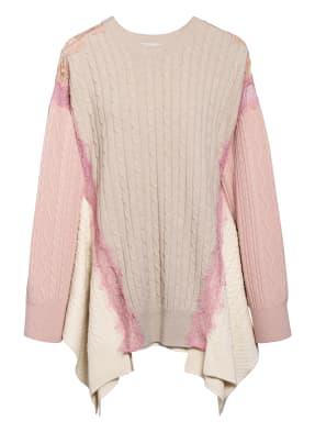 STELLA McCARTNEY Oversized-Pullover mit Spitzeneinsätzen