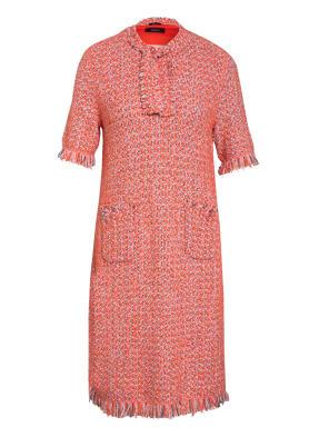MARC CAIN Bouclé-Kleid mit Glitzergarn- und Fransenbesatz