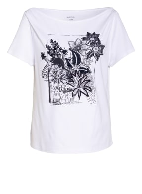 MARC CAIN T-Shirt mit Pailletten- und Fransenbesatz