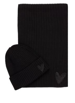 BOSS Set LOANNE: Schal und Mütze