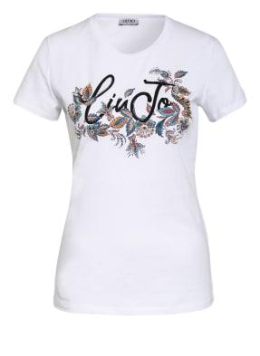 LIU JO T-Shirt mit Schmucksteinbesatz