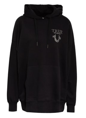 TRUE RELIGION Oversized-Hoodie TRUE mit Schmucksteinbesatz