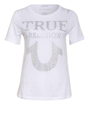 TRUE RELIGION T-Shirt TRUE mit Schmucksteinbesatz