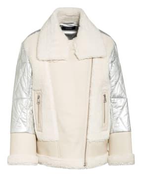 KARL LAGERFELD Jacke mit Kunstfellbesatz