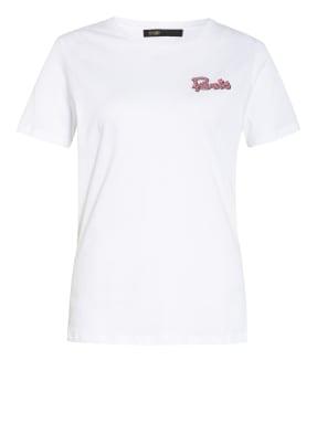 maje T-Shirt mit Schmucksteinbesatz