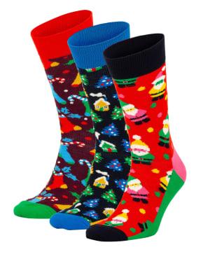 Happy Socks 3er-Pack Strümpfe HAPPY HOLIDAYS in Geschenkbox