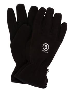 BOGNER Fleece-Handschuhe B-LEISURE mit Lederbesatz