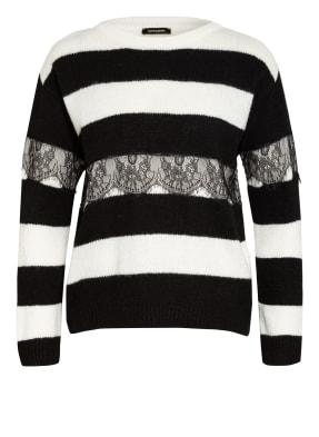 MORE & MORE Pullover mit Spitzenbesatz