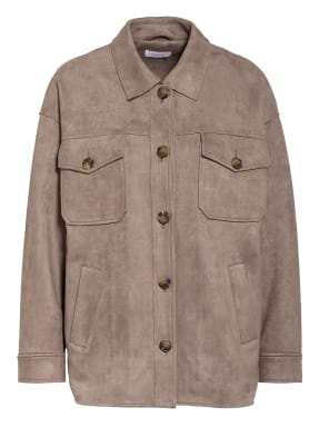 darling harbour Overjacket in Veloursleder-Optik