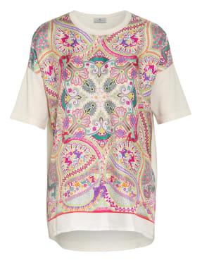 ETRO T-Shirt im Materialmix mit Seide