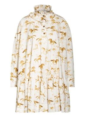 GANNI Kleid mit Rüschenbesatz