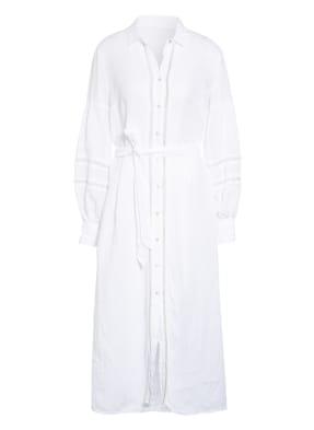120%lino Hemdblusenkleid aus Leinen mit Glitzergarn