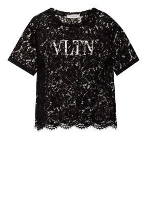 VALENTINO T-Shirt VLTN aus Spitze