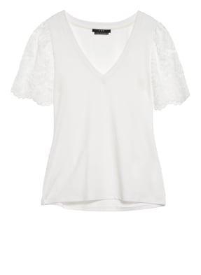 SET T-Shirt mit Spitzenbesatz