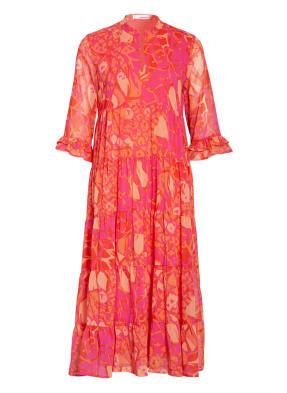 SEM PER LEI Kleid mit Rüschenbesatz