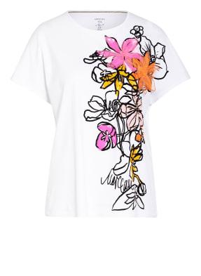 MARC CAIN T-Shirt mit Perlen- und Paillettenbesatz