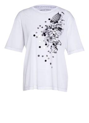 MARC CAIN T-Shirt mit Paillettenbesatz