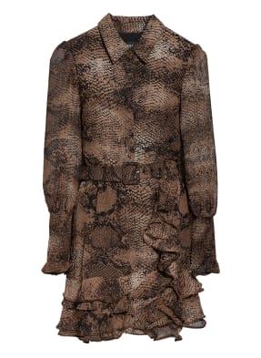 BARDOT Kleid BESSIE mit Volantbesatz