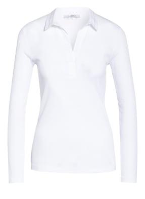 PESERICO Jersey-Poloshirt mit Schmucksteinbesatz