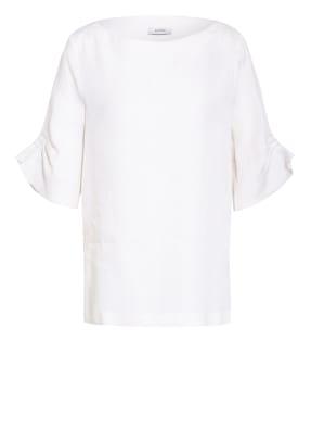 PESERICO Blusenshirt aus Leinen mit Schmucksteinbesatz