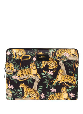 WOUF Laptop-Hülle BLACK LAZY JUNGLE