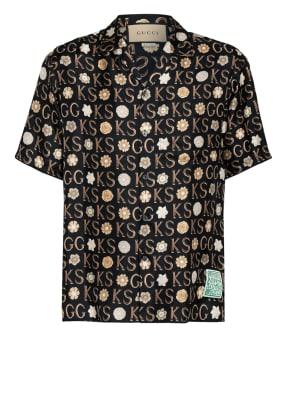 GUCCI Resorthemd Comfort Fit aus Seide