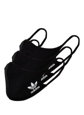 adidas Originals 3er-Set Mund- und Nasenmaske