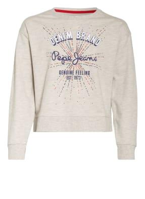 Pepe Jeans Sweatshirt mit Schmucksteinbesatz