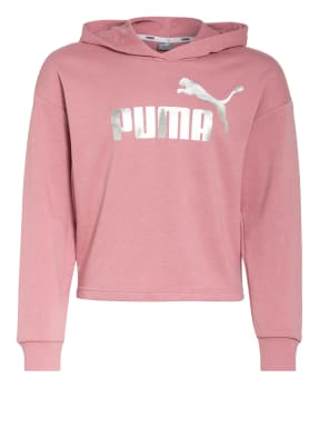 PUMA Cropped-Hoodie ESSENTIALS + METALLIC