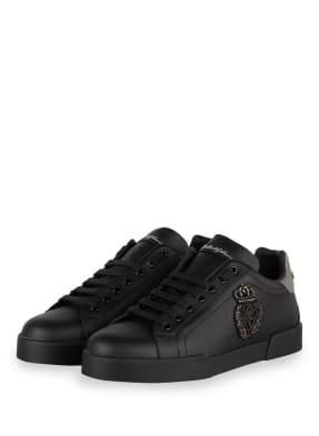 DOLCE&GABBANA Sneaker PORTOFINO mit Perlenbesatz