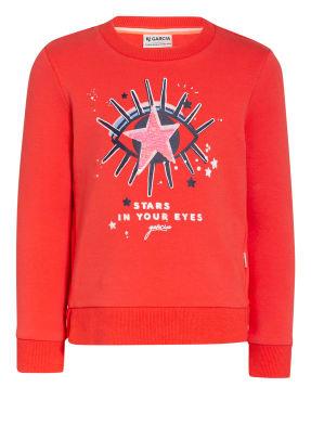GARCIA Sweatshirt mit Paillettenbesatz