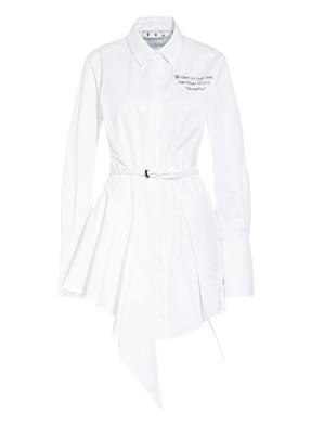 OFF-WHITE Hemdblusenkleid mit Volantbesatz