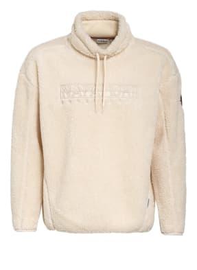 NAPAPIJRI Sweatshirt TEIDE aus Teddyfell