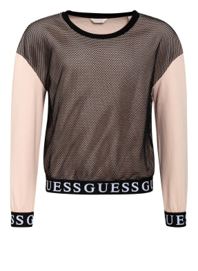 GUESS Sweatshirt im Materialmix