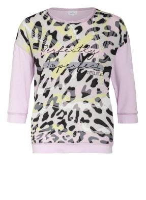 SPORTALM Shirt im Materialmix mit Schmucksteinbesatz