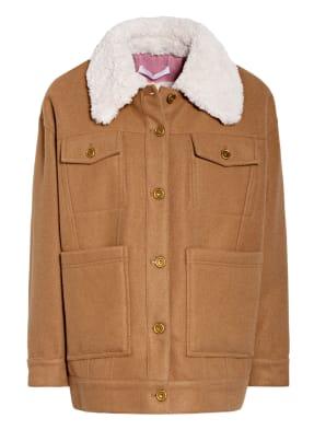 OOF Wear Jacke mit Kunstfellfutter