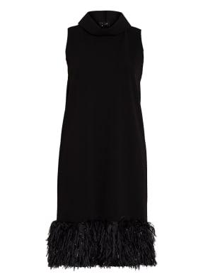 ANNA's Kleid mit Federbesatz